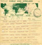 Ludwig Renn an Jack Brent. Telegramm 1942.