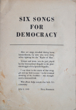 6 six songs for democracy Titelseite